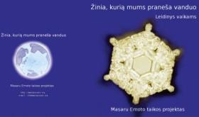 """M. Emoto - """"Žinia, kurią mums praneša vanduo"""""""