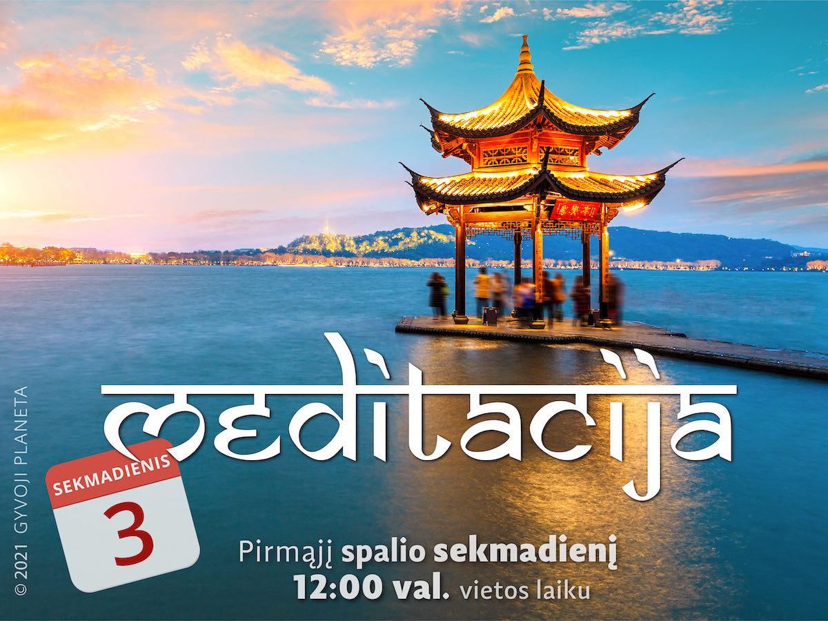 Sekmadienio MEDITACIJA 2021-10-03 Gyvoji planeta